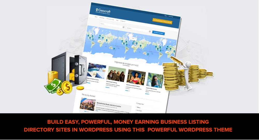 GeoCraft Directory WordPress Theme Review - SCAM OR LEGIT? : Setup Your Local Business Directory Website And Start Your Own Recurring Passive Income Business [Earn Six Figure Dollars Monthly As a Recurring Passive Income Working Alone On Your Local Business Listing Advance Directory Website]