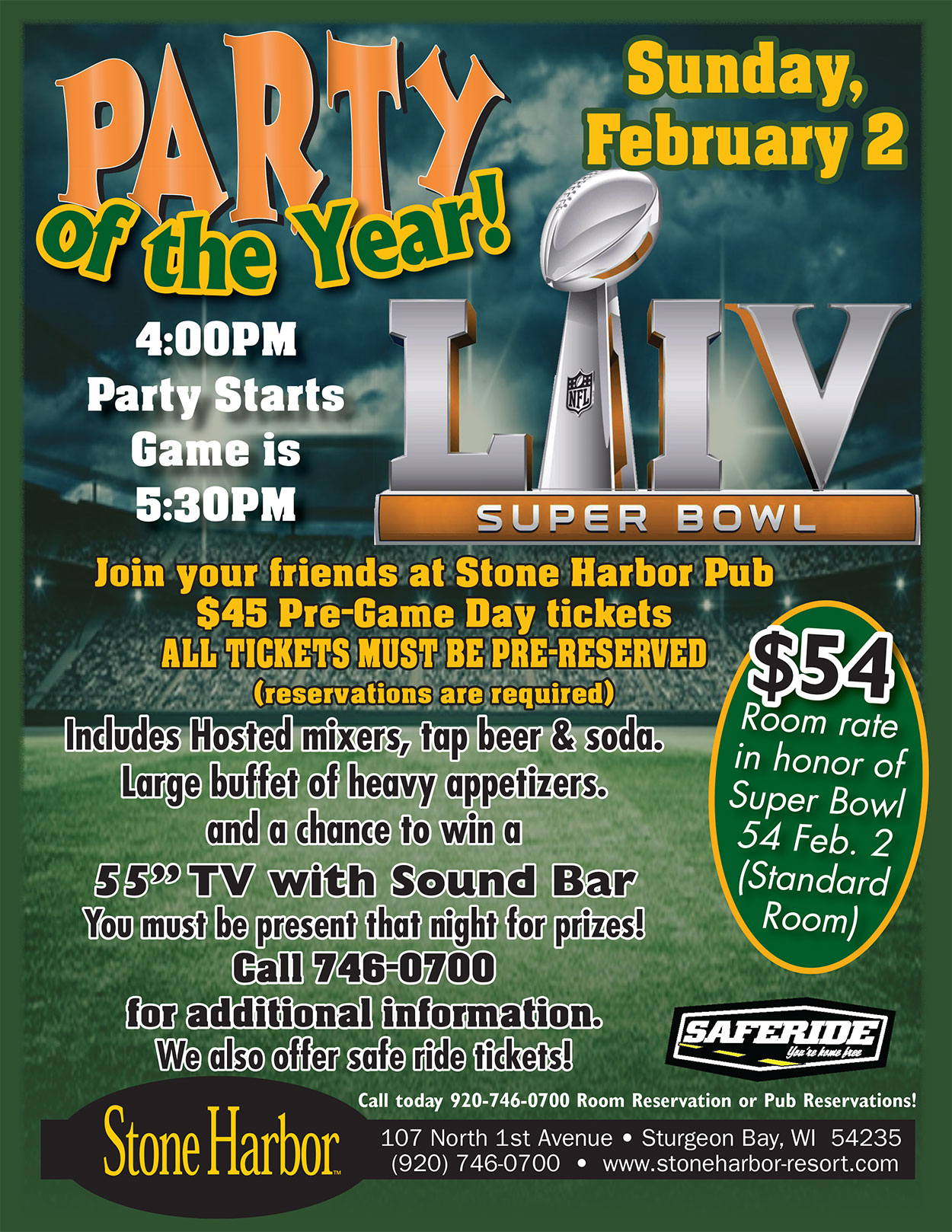 Super Bowl Party Feb 2