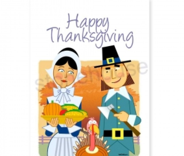 Pilgrims Theme Thanksgiving Card