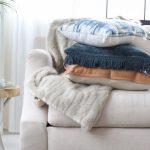 Harrison Chestnut Leather Lumbar Pillow