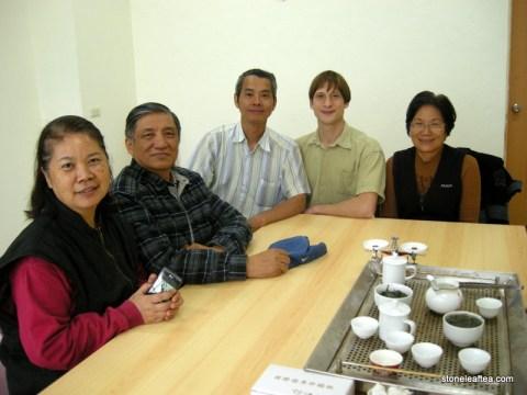 Teacher Gao, Wife, and Friends Tasting Fresh Tea
