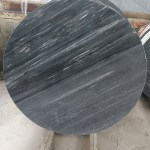 Round Dark Grey Marble Coffee Table Top Marble Stone Table Factory