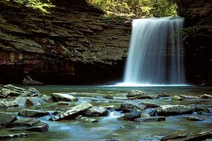 USA, Virginia, Jefferson National Forest, Falls of Little Stony