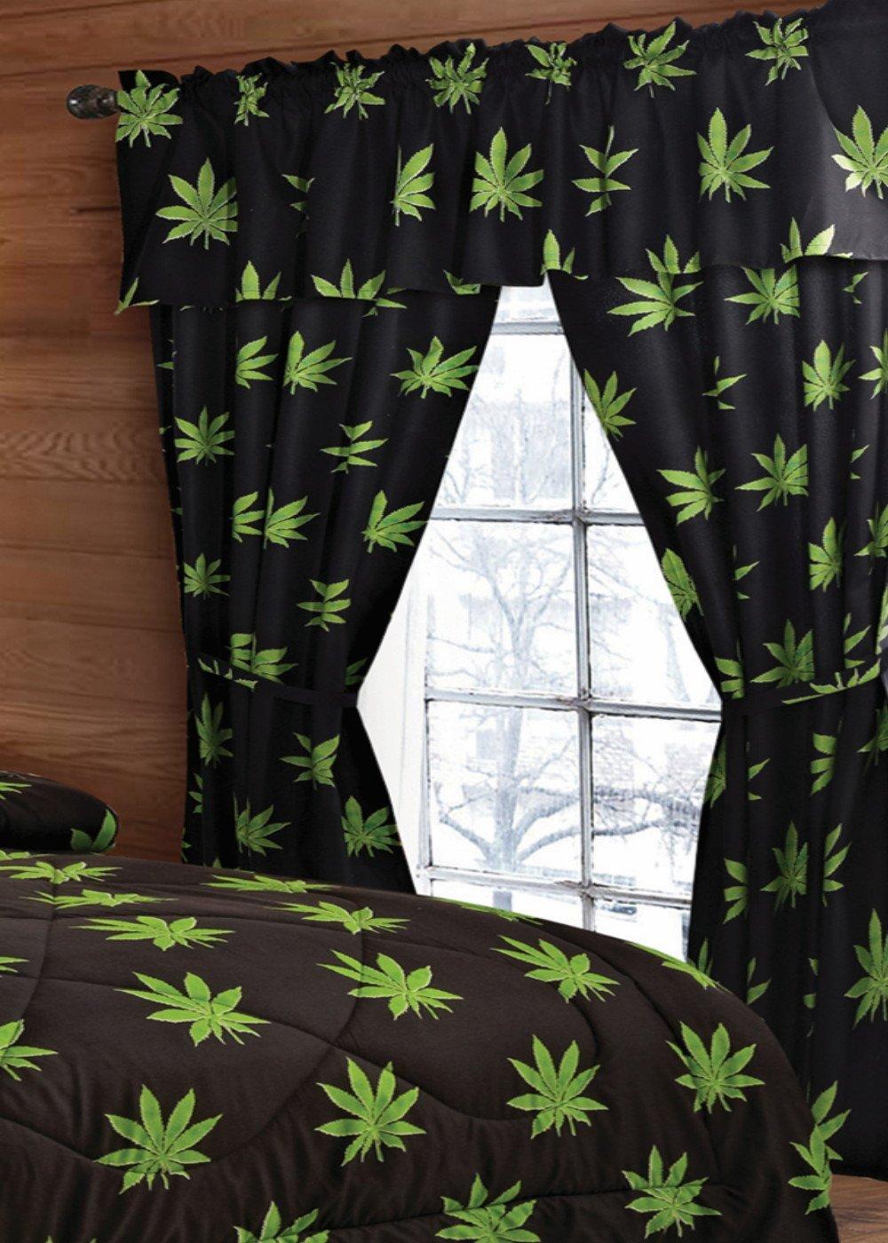Marijuana Curtain Drape Set