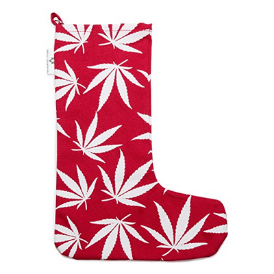 Marijuana Leaf Christmas Stocking
