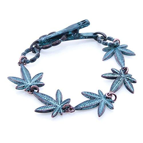 Cannabis Leaf Roach Clip Bracelet