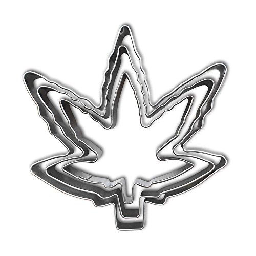 Marijuana Leaf Cookie Cutter Kit
