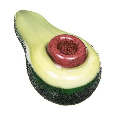 Glass Avocado Hand Pipe