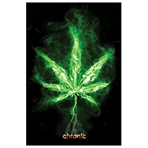 Chronic Weed Leaf Poster