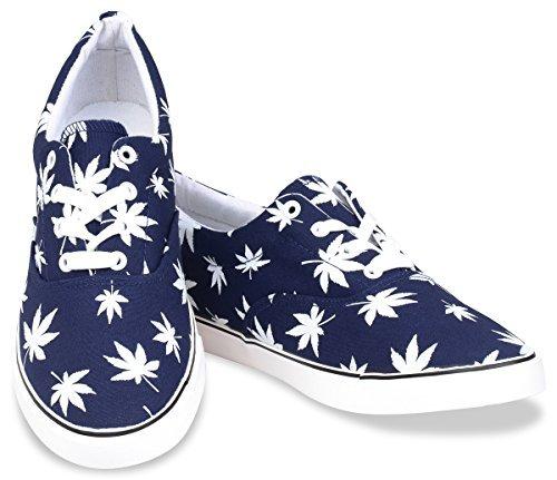 Weed Leaf Skate Shoes