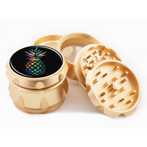 Rainbow Pineapple Gold Herb Grinder
