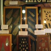 Indian Artifact Arrowhead Display 006