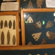 Indian Artifact Arrowhead Display 013