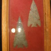Indian Artifact Arrowhead Display 022