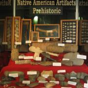 Indian Artifact Axe Display 004