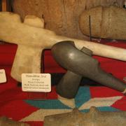 Indian Artifact Axe Display 010