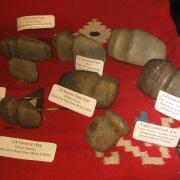 Indian Artifact Axe Display 014