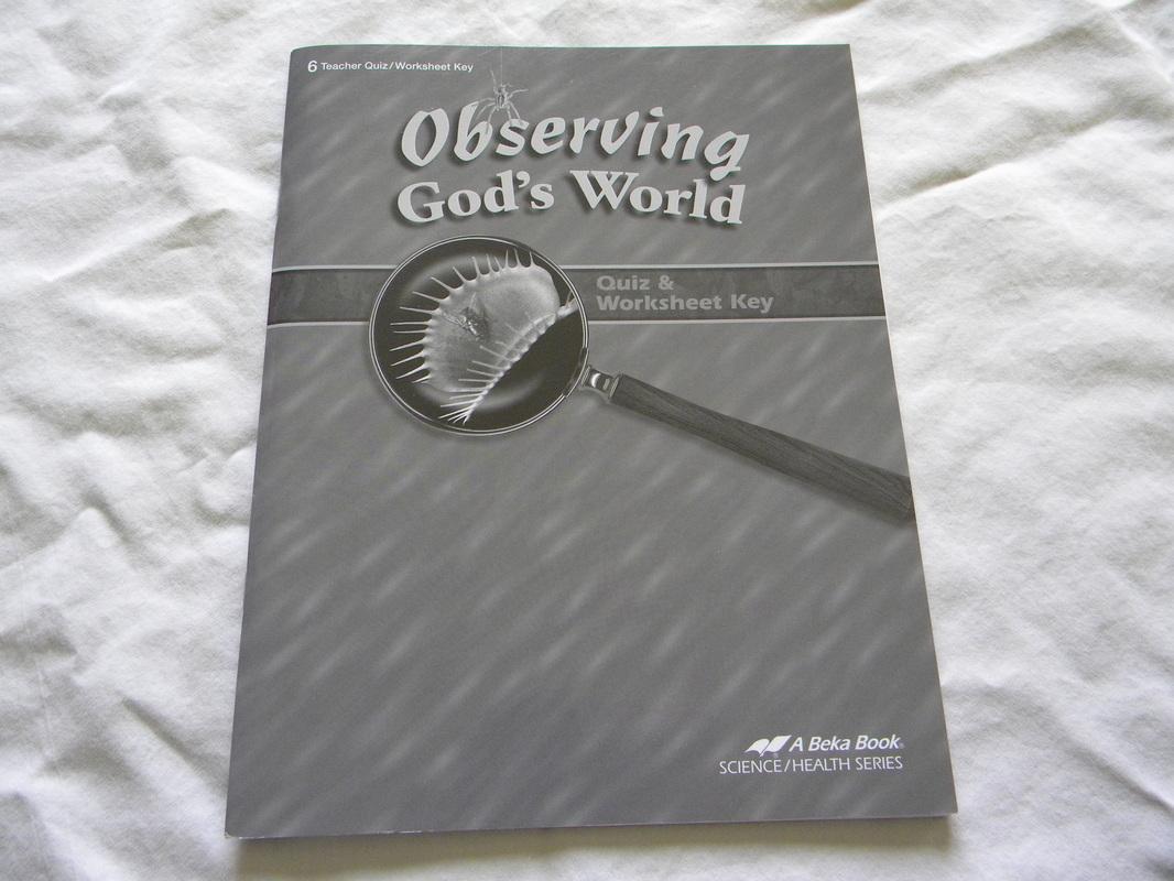 Observing God S World 6 Quiz Amp Worksheet Key