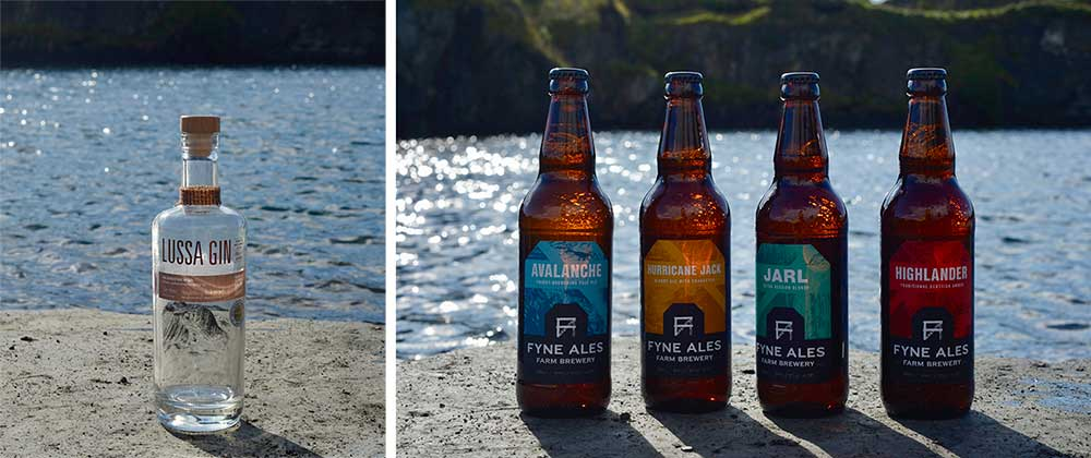 Fine Lussa Gin and Fyne Ales