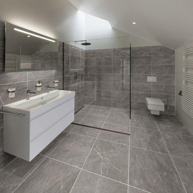 stella grigio porcelain tiles