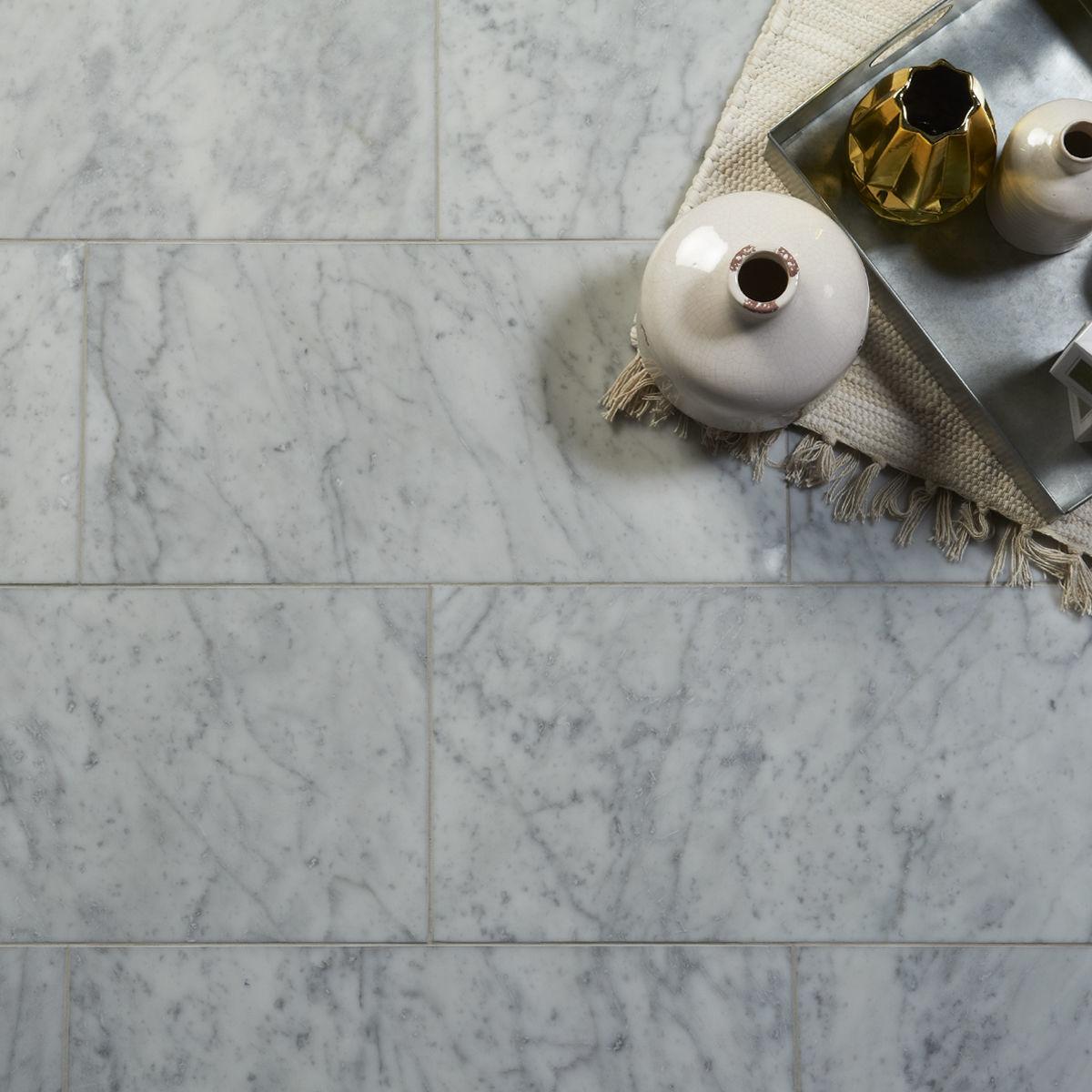 bianco carrara marble tiles honed