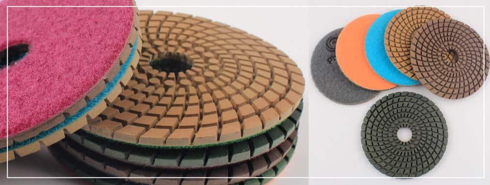 Raizi 100 mm wet/dry premium deep diamond sanding disk polishing tool for granite,marble,engineered stone Grit 50-3000