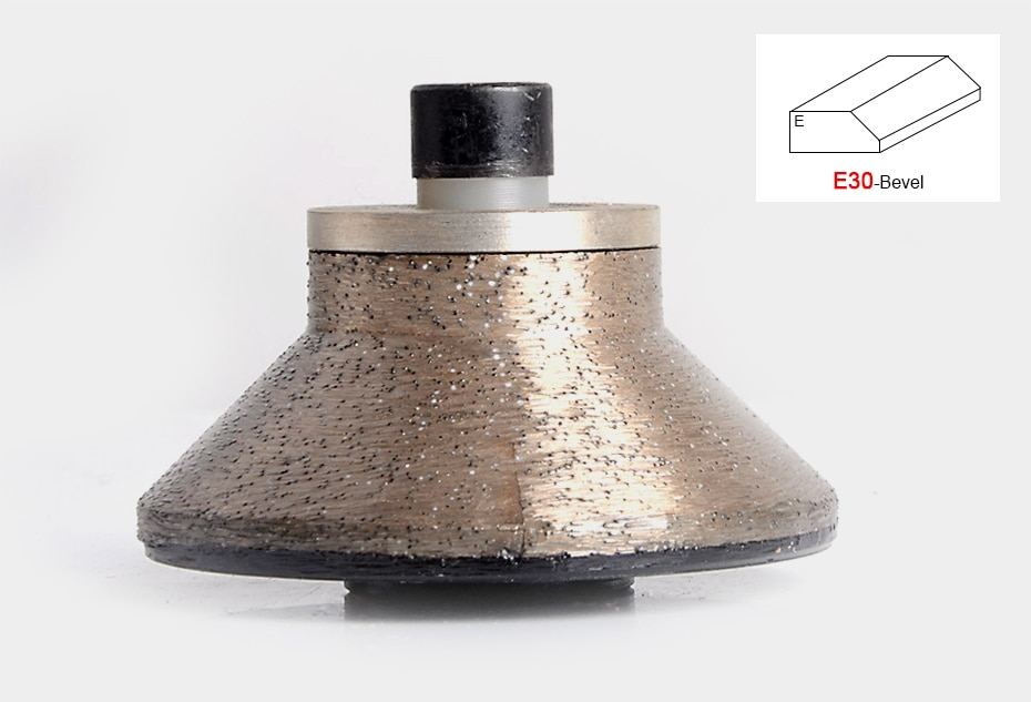 E30 Diamond Router Bits for Edge Profiling Machine Hand Held Granite Router Diamond Wheel Shape B 3 cm