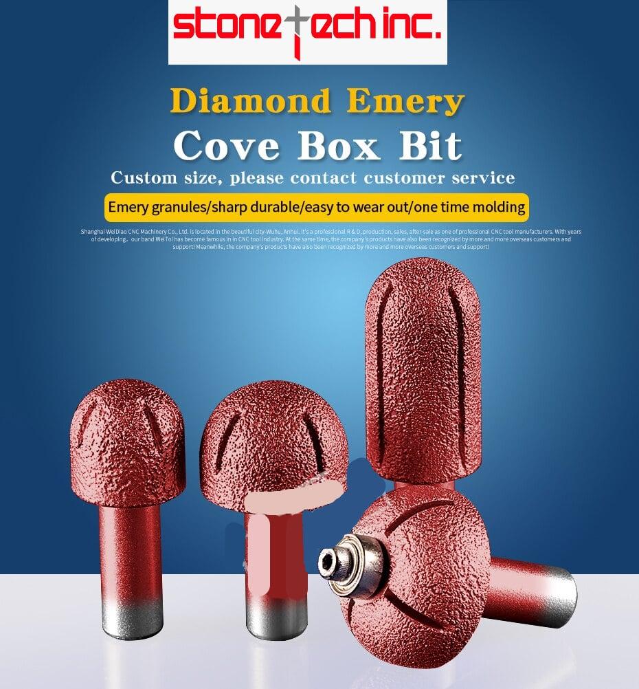 Diamond emery cove box bit round bottom router bits stone cutter bits granite CNC engraving tools 1PC