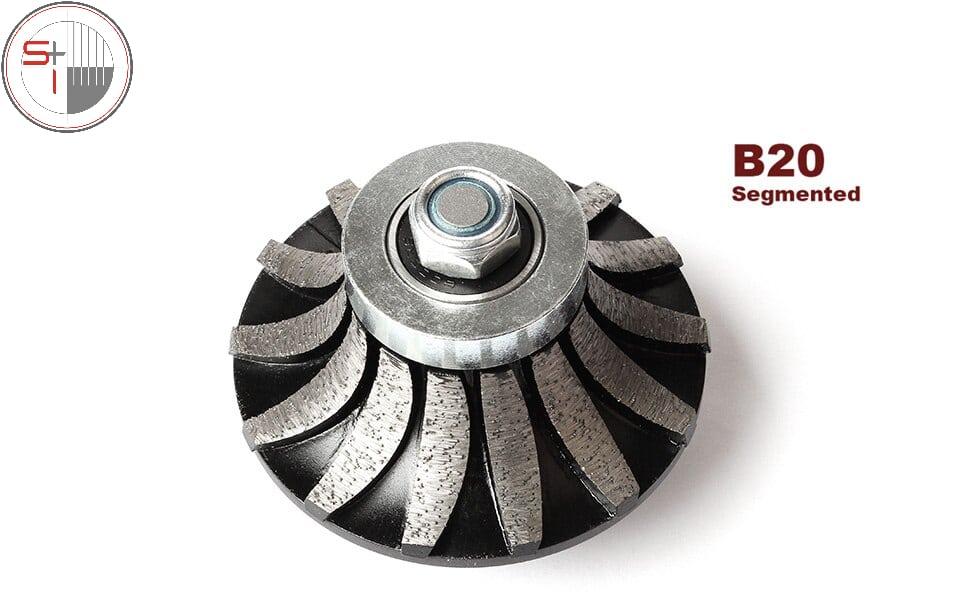 Diamond Segmented Profiling Bit Router Bit Edge Grinding Wheel Granite Marble Countertop Abrasive Wheel M14 Thread - B20