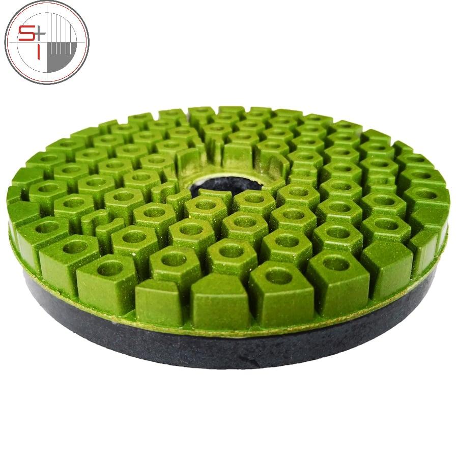 Diamond Edge Polishing Pad Snail Lock Abrasive Disc 125/150mm Edge Grinding Wheel For Marble Granite Polishing wheel