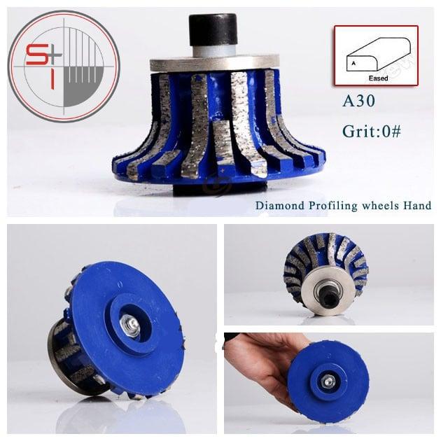 Diamond profiling wheel for granite for portable grinding machine for stone| 0# shape A