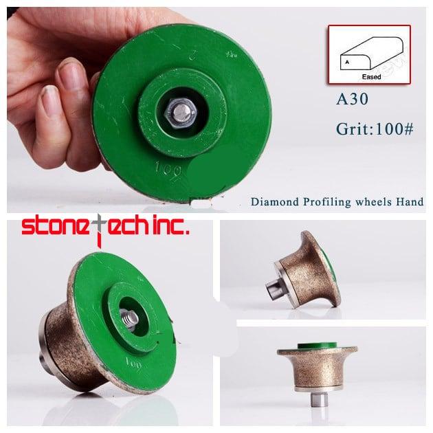 100# shape A diamond profiling wheel portable grinding machine for stone granite concrete