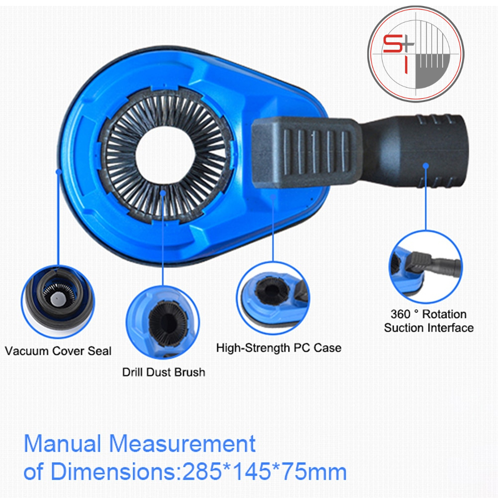 Electric Impact Drill Dust Collector Hammer Drill Dust Cover  Attachment Universal Dust Shroud for Drilling New 285*145*75mm