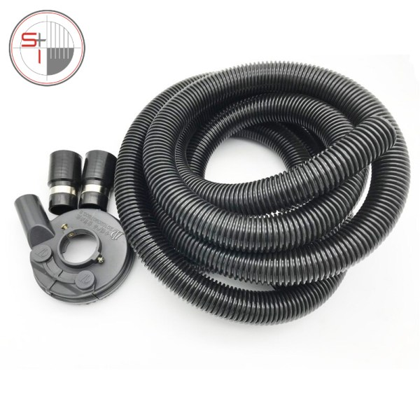 Vacuum Grinding Dust Guard Shroud Kit with 5mm Hose Pipe for Angle Grinder Hand Held Grinder Convertible Universal