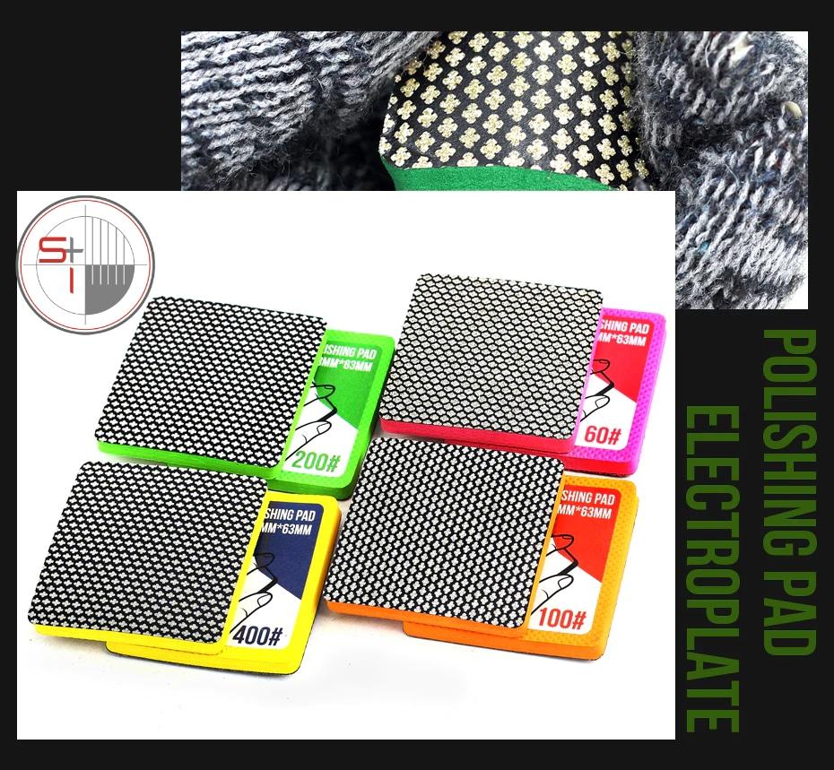 Diamond abrasive hand polishing pads for glass stone and hard alloy material edge polishing