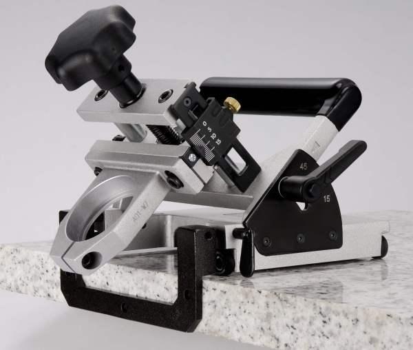 Stone Tech Inc - Wet Air Chamfering Machine - Angular adjustments.