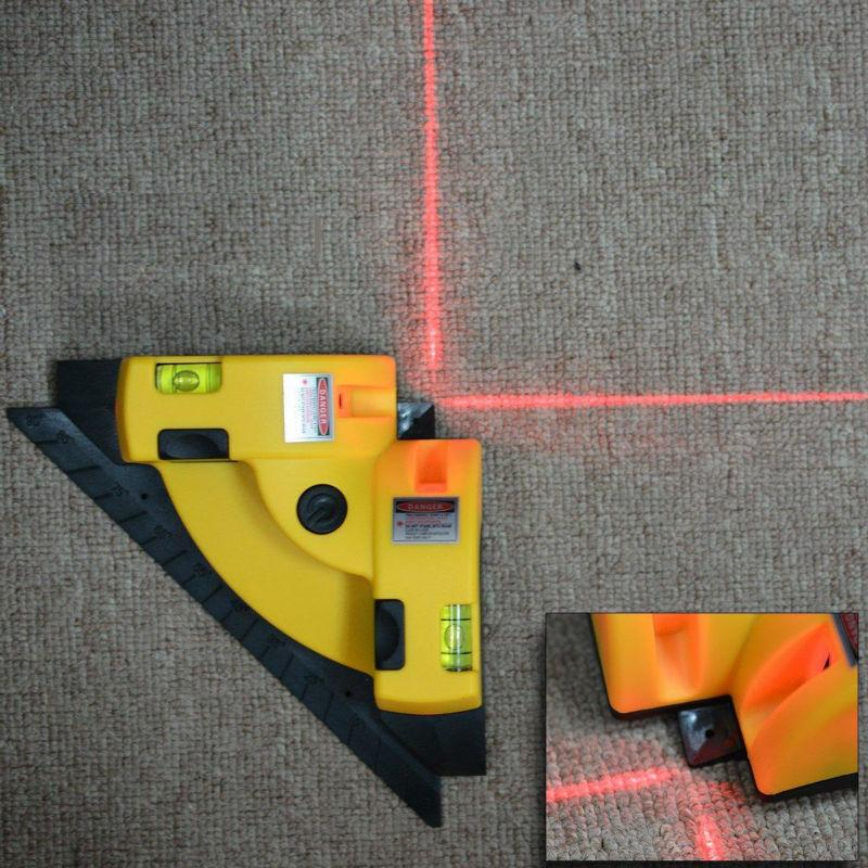 Square Right Laser Level Angle 90 Degree Vertical Horizontal Wire Line Projection Laser Levels Measurement Tools Level Laser