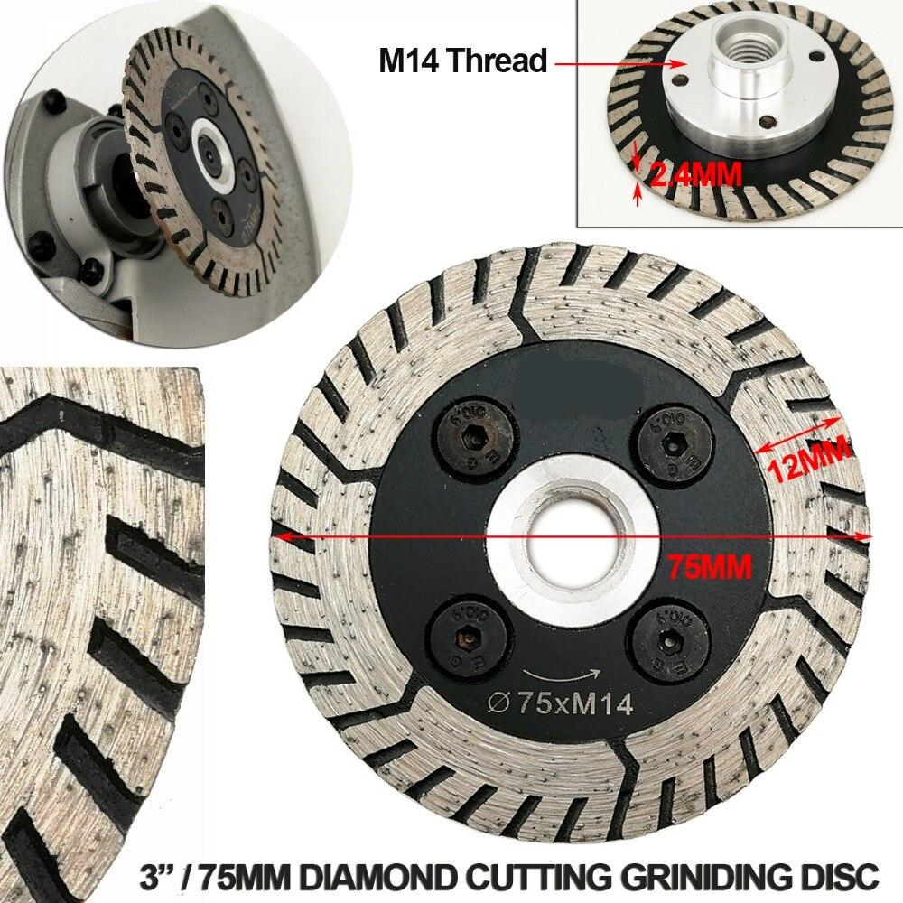 SHDIATOOL 2pcs Diamond Dual Saw Blade Diameter 75MM 115MM 125MM Cutting Grindng Disc Cut Grind Sharpen Granite Marble Concrete