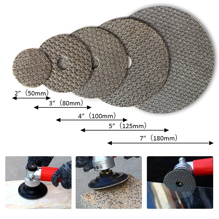 Diamond Hand Polishing Pads Electroplated Sanding Pads Grinding Disc For Glass Granite Marble Concrete