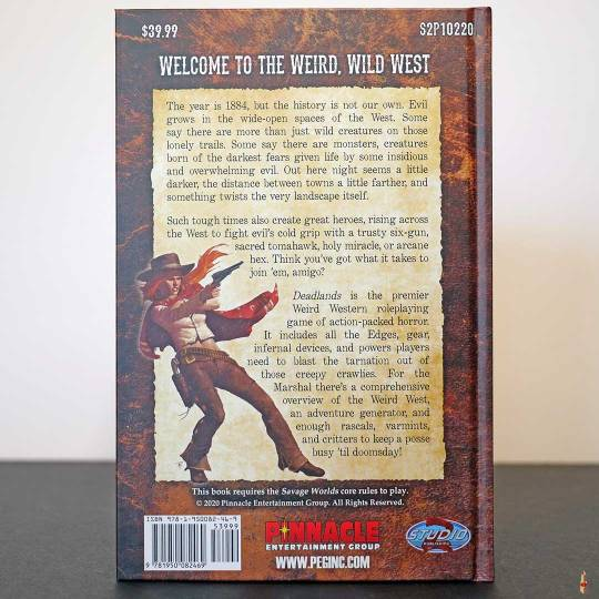 deadlands weird west core rulebook swade back