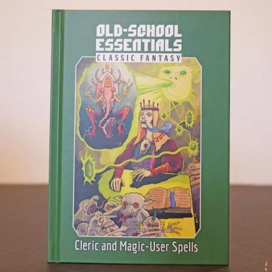 ose classic cleric magic user spells front