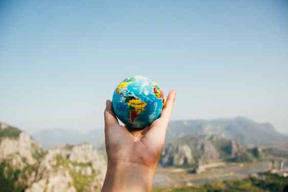 Welt in einer Hand