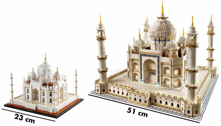 LEGO Taj Mahal size comparison