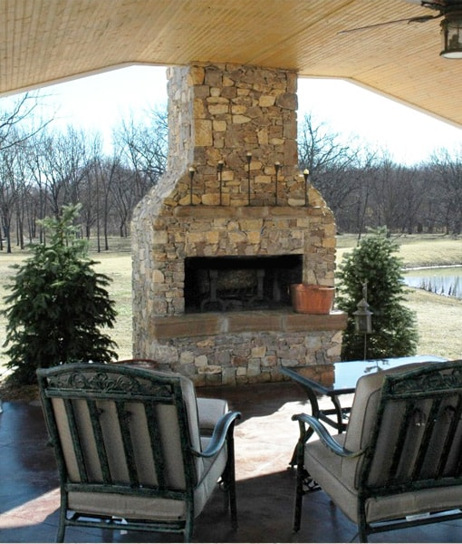 outdoor fireplace kits straight front