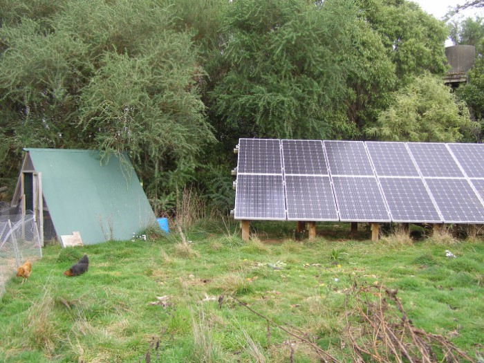 The chook yard..but check out those solar panels!