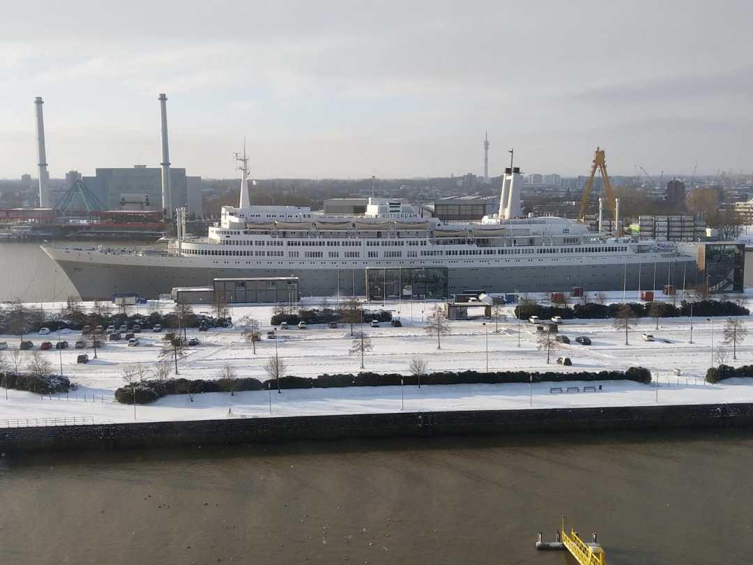 Winter op de Rotterdam
