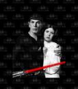 Spock & Leia Flag_BLK Product Image