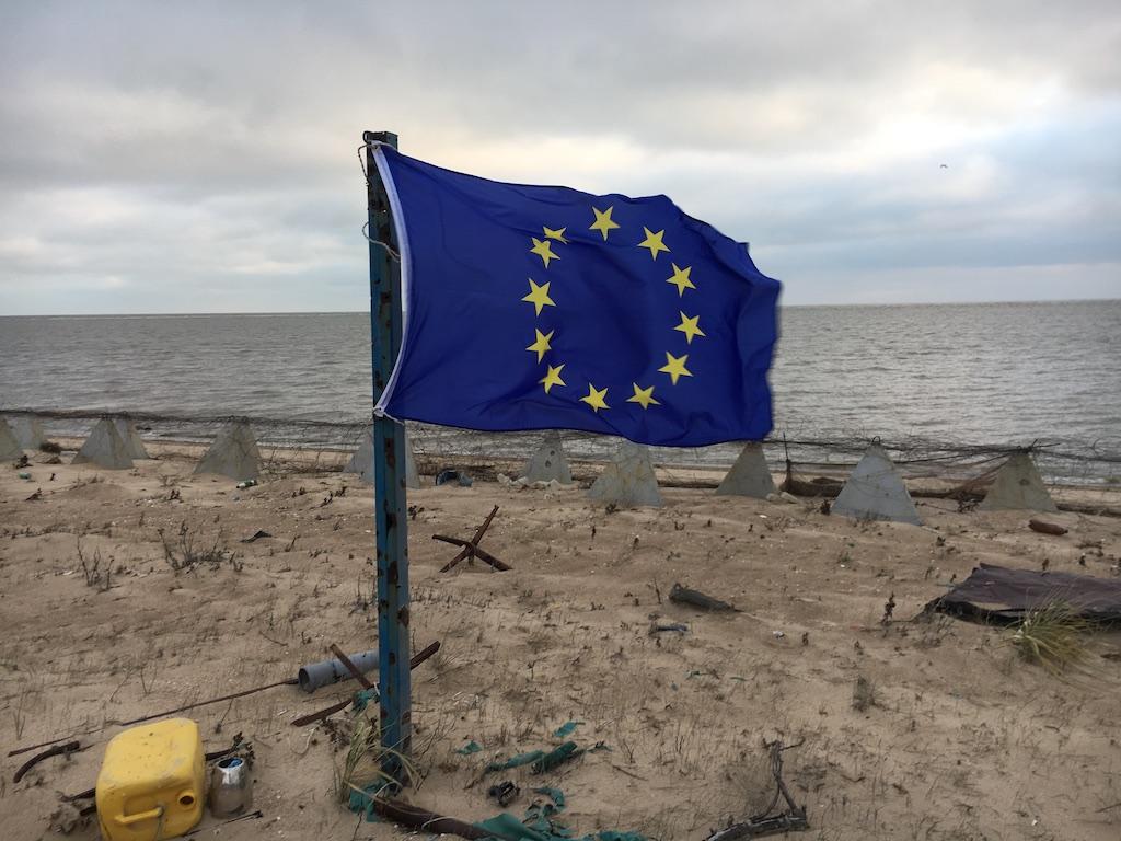 Bandiera europea a Shirokino