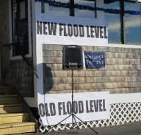 New flood level