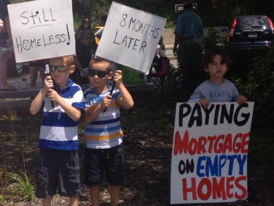 Paying mortgage on empty homes